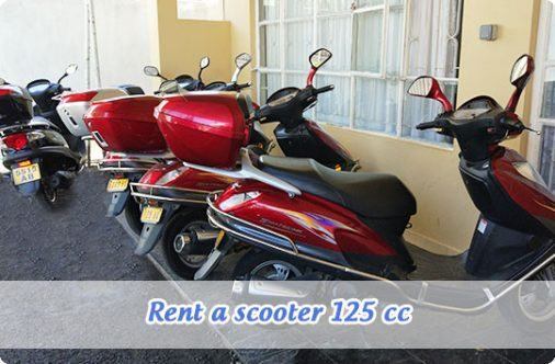 Rent a scooter 125